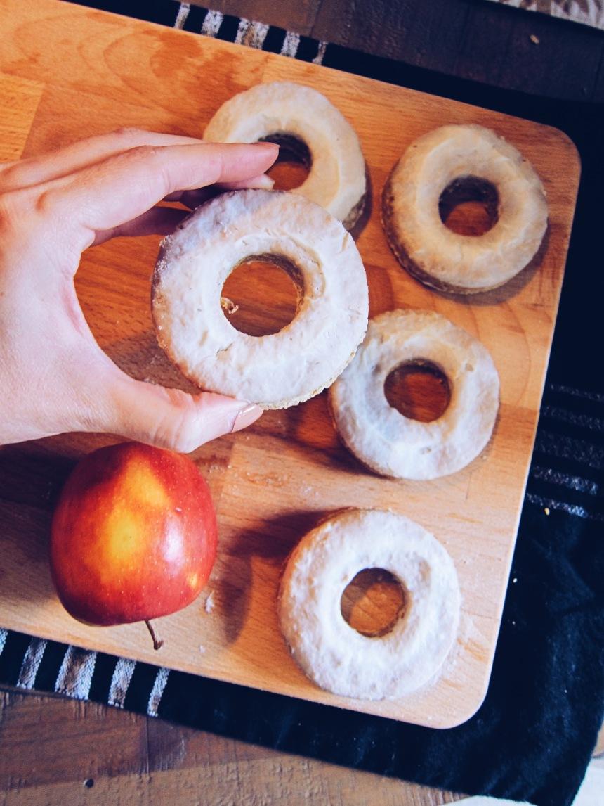 apple cinnamon dog donuts