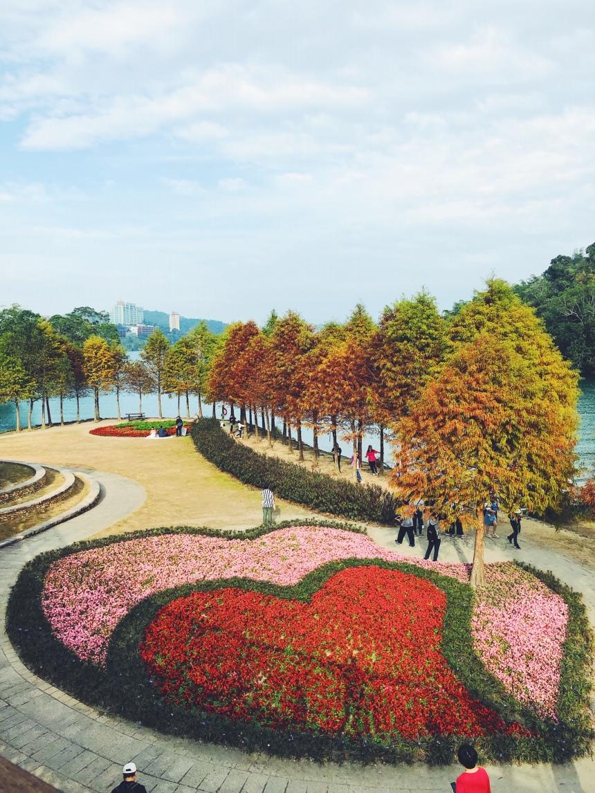 heart-shaped garden