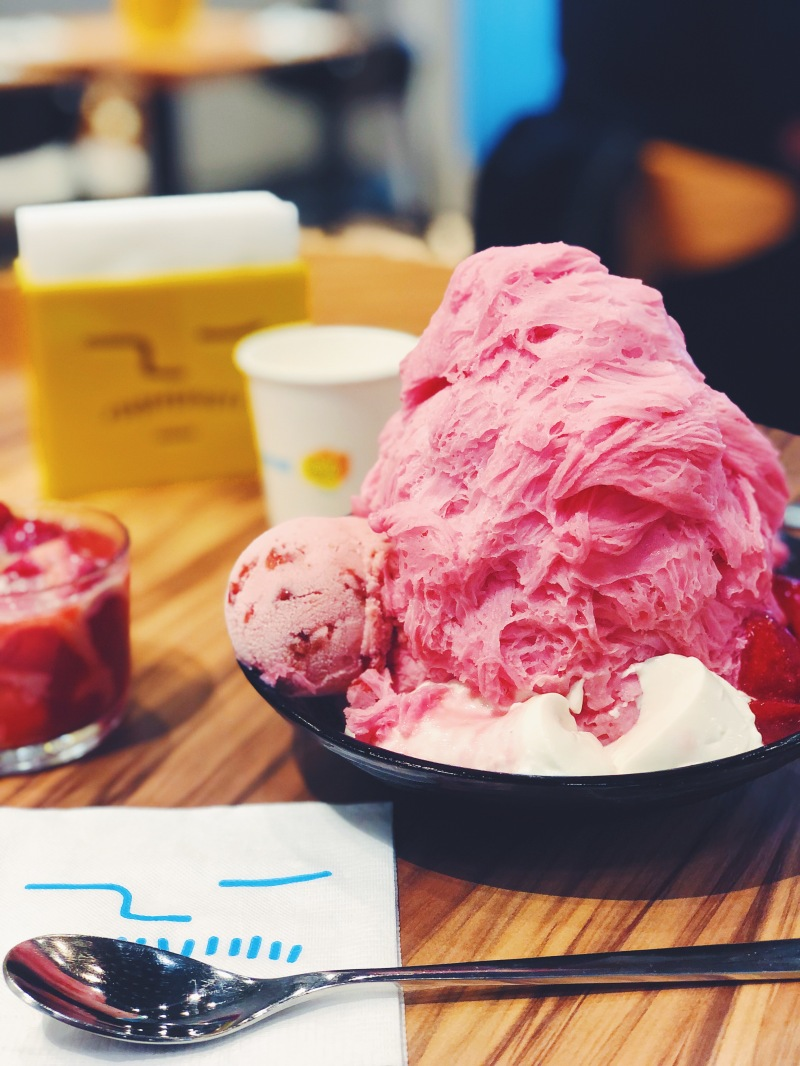 strawberry shave ice