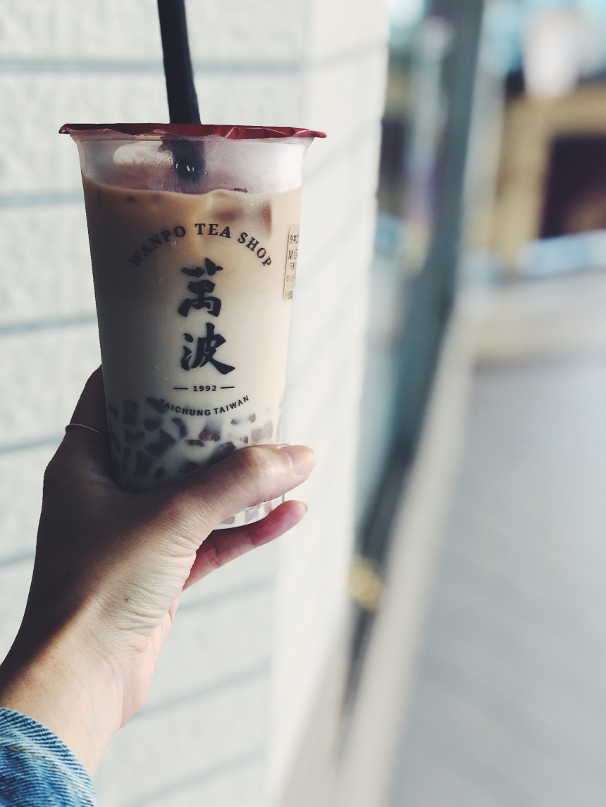 cup of boba milk tea